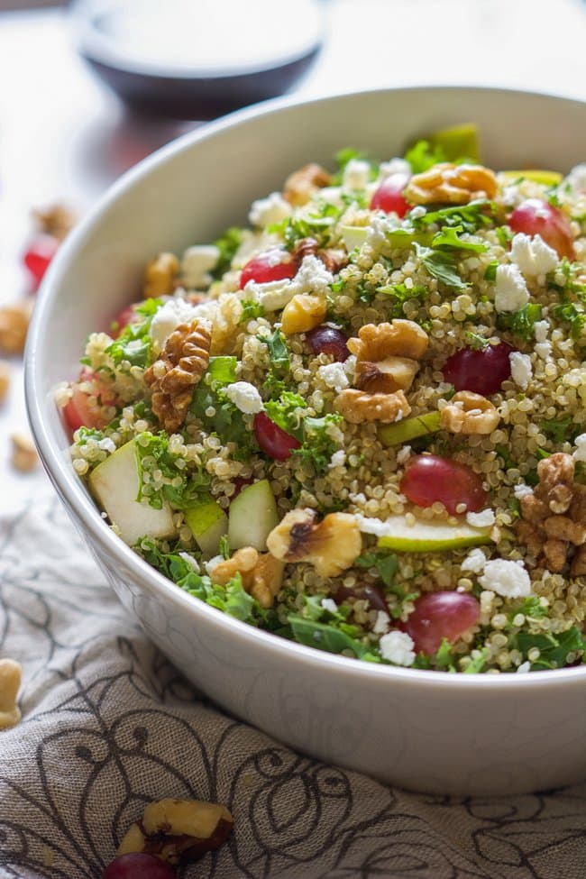 Kale-Grape-Walnut-Quinoa-Salad-with-White-Balsamic-Dressing