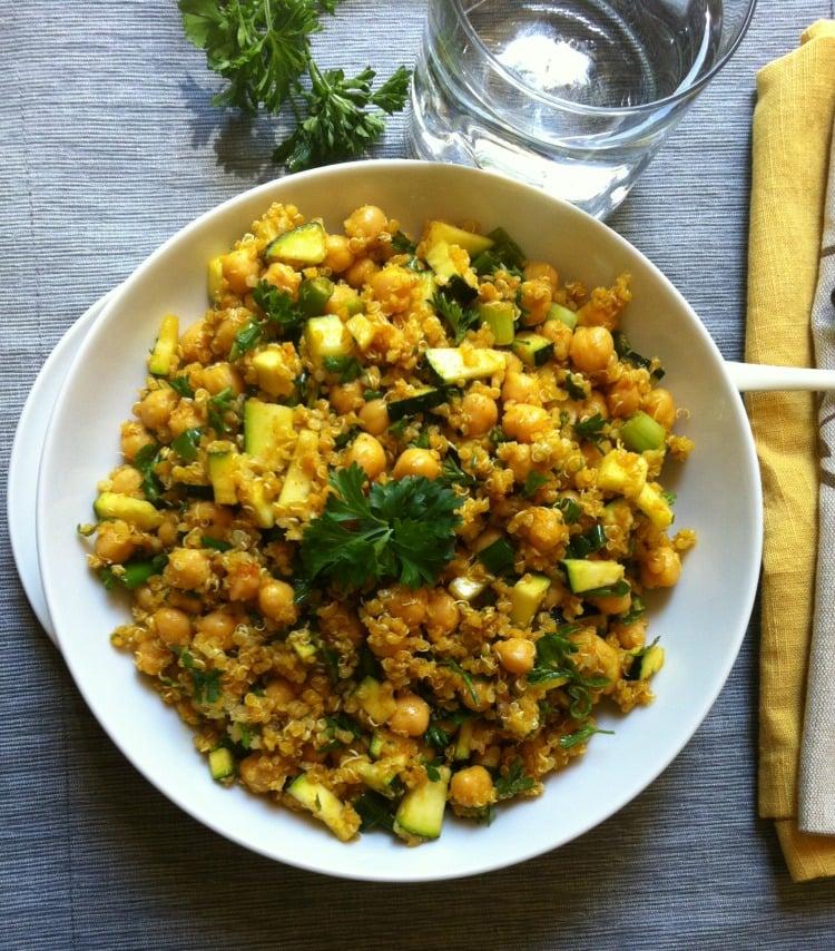 Zucchini-Chickpea-Quinoa-Salad