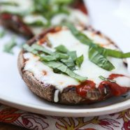 Low Carb Pizza Stuffed Mushrooms - recipe via Healthy Family Classics Cookbook by Produce For Kids