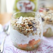 Just 3 ingredients! This refreshing Summer Melon Protein Parfait is the perfect way to cool down this summer. Great breakfast, snack, lunch or dessert! Recipe via aggieskitchen.com