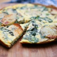 Spinach and Potato Frittata - a few simple ingredients and you have a delicious breakfast, lunch or dinner! Perfect for Meatless Monday! Recipe via aggieskitchen.com