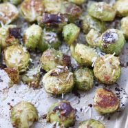 Brussels Sprouts with an Italian twist! Just a few ingredients, these Pesto Roasted Brussels Sprouts will make a great addition to any meal! Recipe via aggieskitchen.com