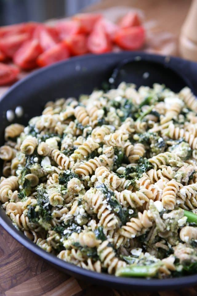 Pesto Pasta with Ground Turkey and Kale , Aggie\u0027s Kitchen