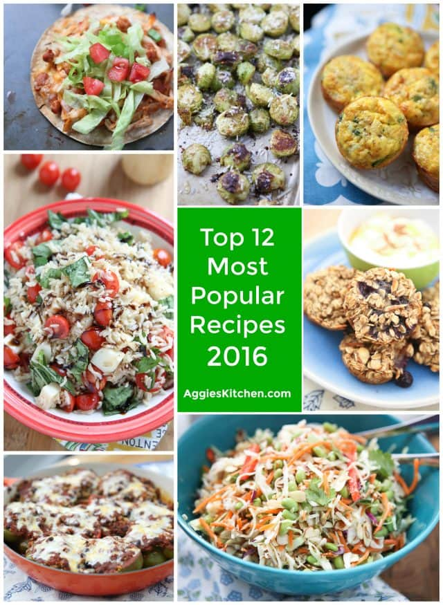Top 12 Most Popular Recipes of 2016 from AggiesKitchen.com