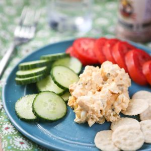 Creamy Greek Yogurt Egg Salad kicked up with smoked paprika - serve with bread, crackers or veggies for a healthy lunch or snack. Recipe via aggieskitchen.com
