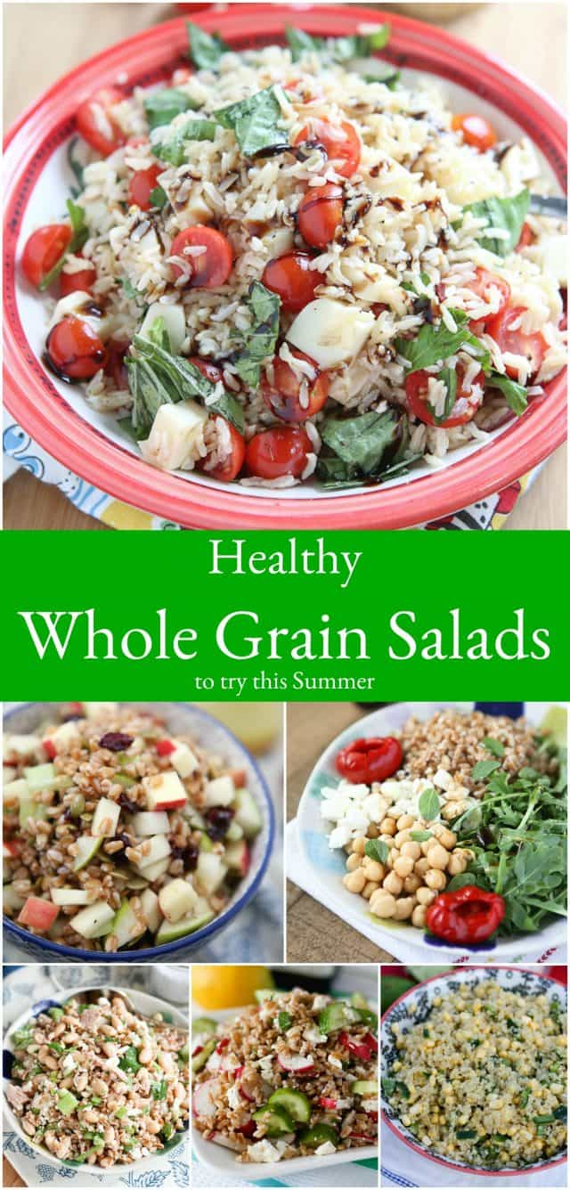 These healthy whole grain salad recipes are sure to be light, yet filling and absolutely delicious additions to your summer menu!