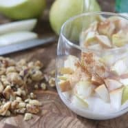 greek yogurt parfait with pears walnuts