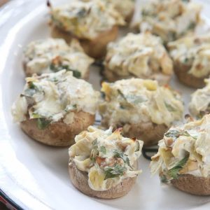 artichoke stuffed mushrooms vegetarian