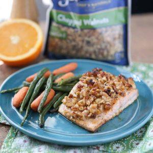 orange walnut crusted salmon
