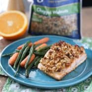 orange walnut crusted salmon