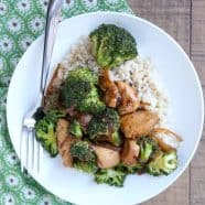 healthy chicken and broccoli stirf fry